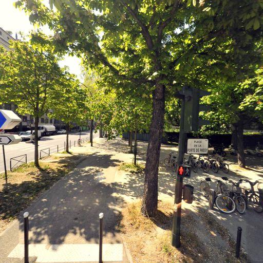 Station Vélib' Place de la Porte de Passy - Vélos en libre-service - Paris